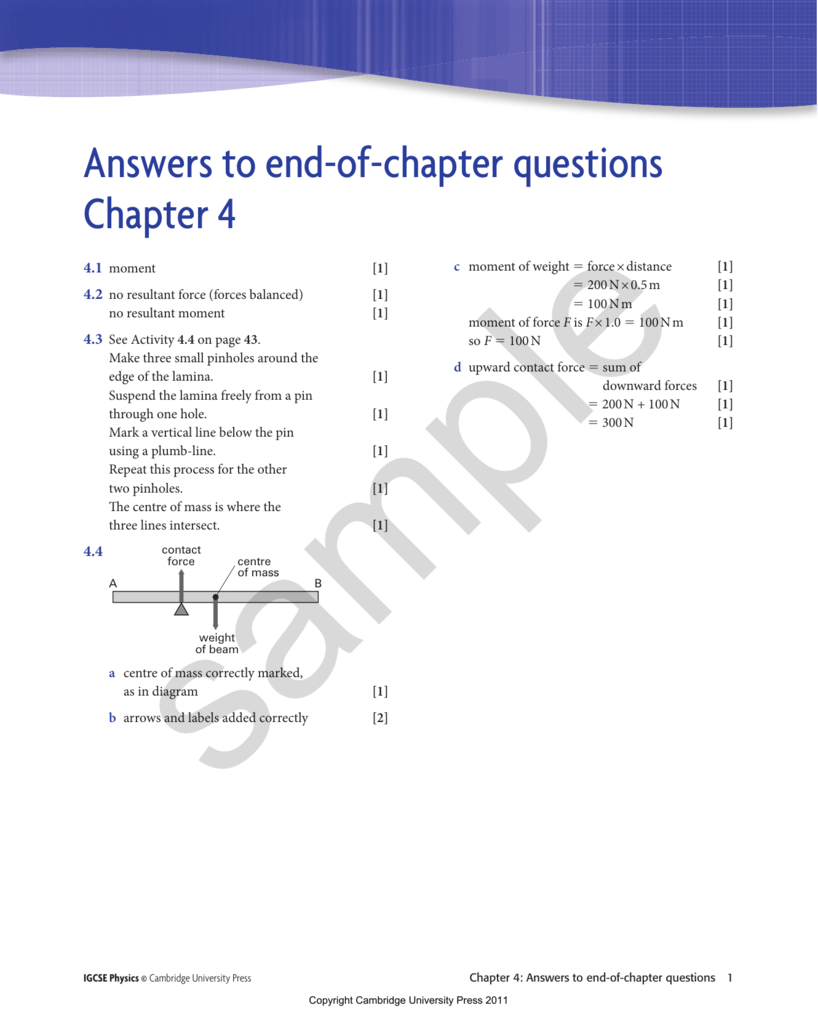 Answers to end-of-chapter questions Chapter 4