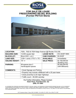 FOR SALE OR LEASE FREESTANDING RETAIL BUILDING (Former
