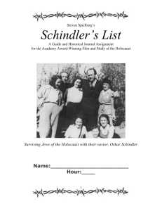 Schindlers list packet 2012