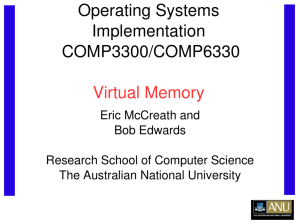 Virtual Memory - Computer Science