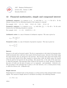 12 Financial mathematics, simple and compound interest