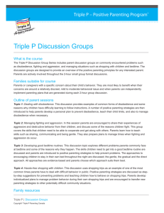 Triple P Discussion Groups