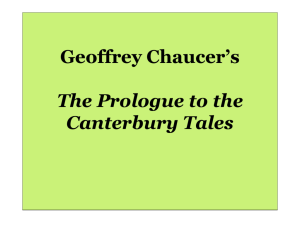 The Prologue to the Canterbury Tales - STaRT