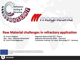 Raw Material challenges in refractory application
