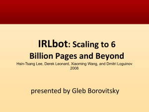 IRLbot: Scaling to 6 Billion Pages and Beyond