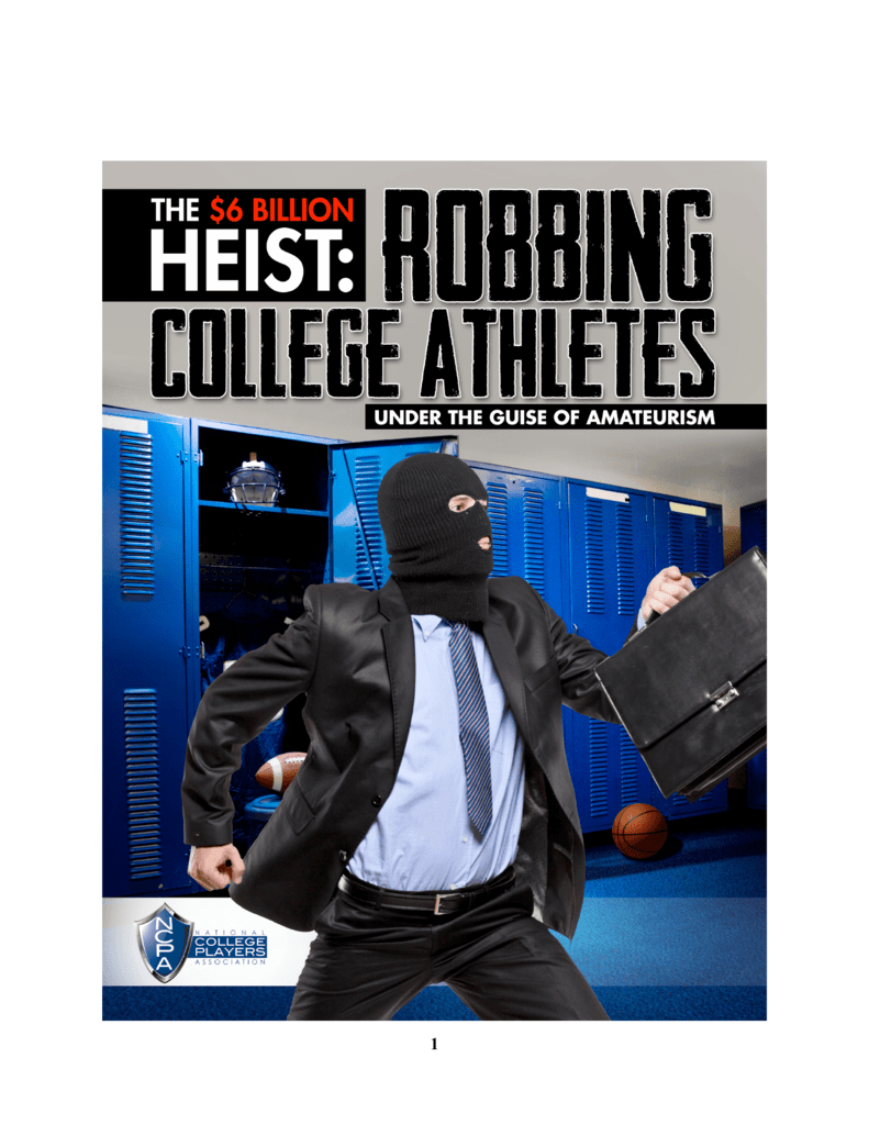 Image result for robbing college athletes under the guise of amateurism