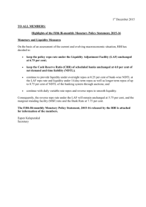 Highlights of the Fifth Bi-monthly Monetary Policy Statement, 2015