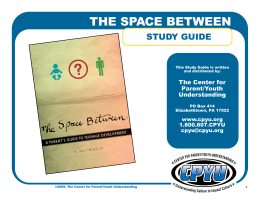 The Space Between Leader's Guide.pub