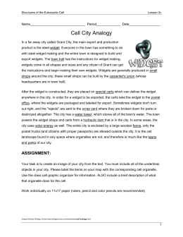 cell city analogy examples