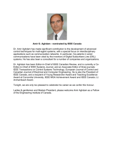 Amir G. Aghdam - The Engineering Institute of Canada