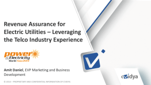 Revenue assurance for electric utilities leveraging the