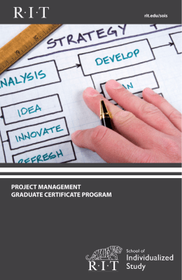 project management graduate certificate program