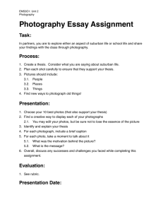 EMS3O1 2.03 Photo Essay Assignment