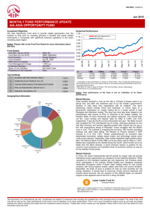 monthly fund performance update aia asia opportunity fund