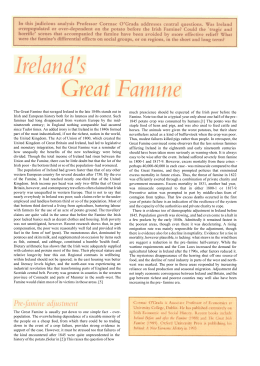 Ireland's Great Famine - Economic History Society