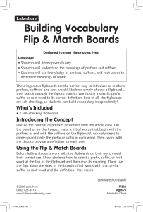 Building Vocabulary Flip & Match Boards