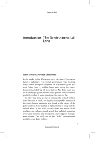 Introduction The Environmental Lens - Eco