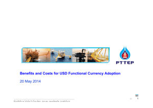 Benefits and Costs for USD Functional Currency Adoption 20 May