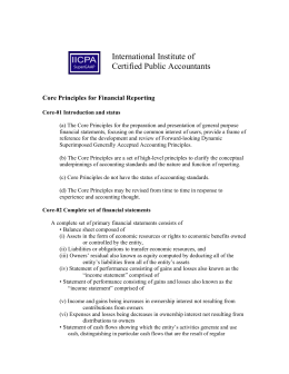 Core Principles for Financial Reporting