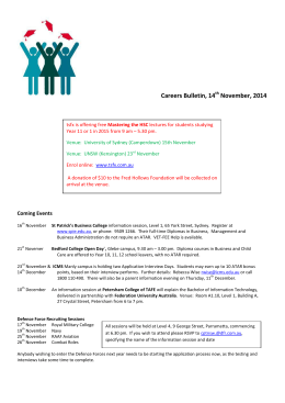 Careers Bulletin, 14th November, 2014