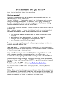 Does someone owe you money - Fact Sheet - Local Court