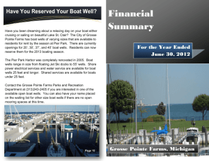 Financial Summary - City of Grosse Pointe Farms