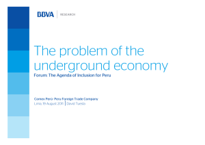 The problem of the underground economy