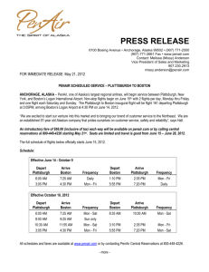 press release - Plattsburgh International Airport