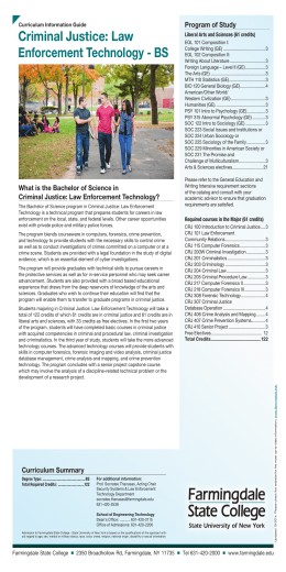 Criminal Justice: Law Enforcement Technology - BS