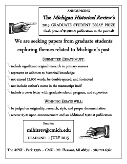 We are seeking papers from graduate students exploring themes