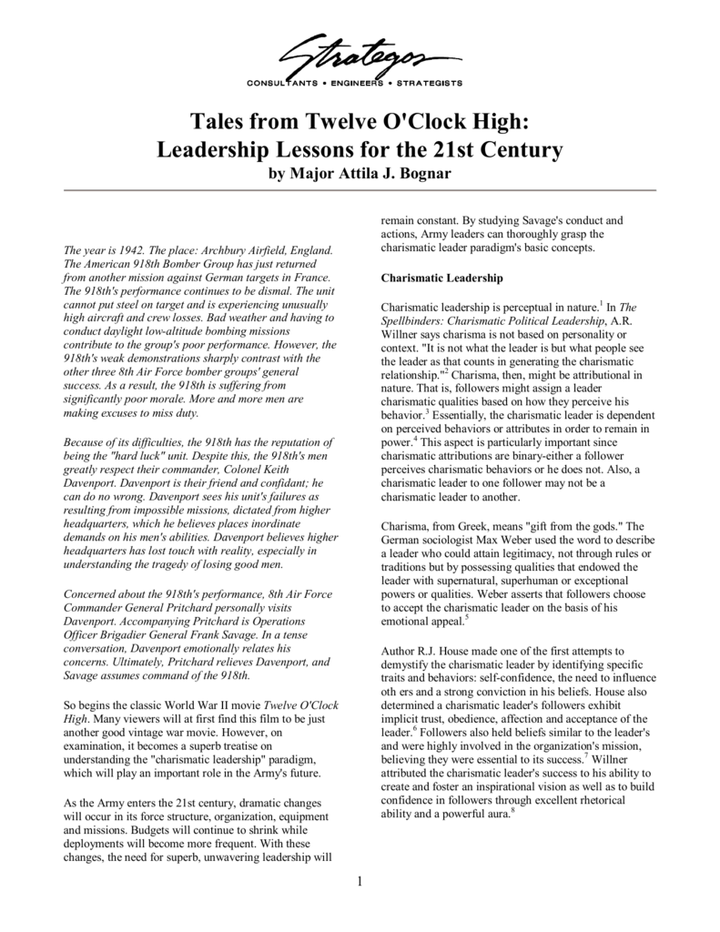 twelve o clock high leadership lessons