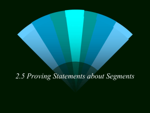 2.5 Proving Statements about Segments - Carthage R