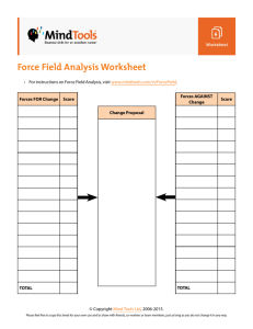Force Field Analysis Worksheet