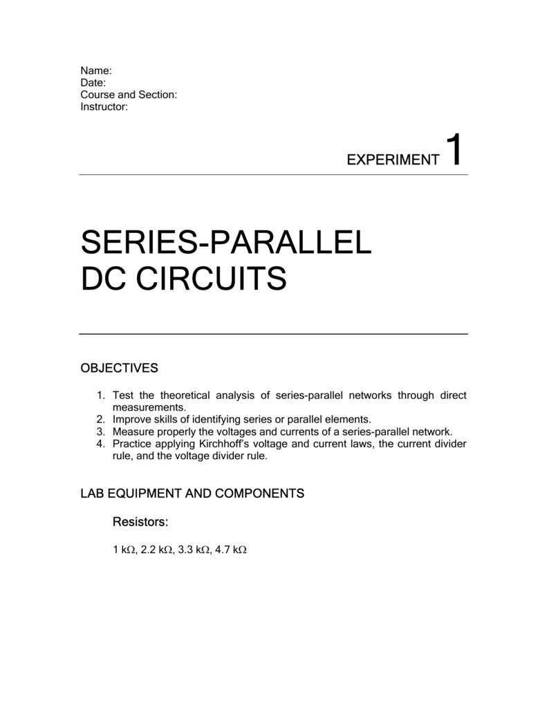 Series Parallel Dc Circuits Circuit