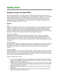 Employee: Office Safety Fact Sheet