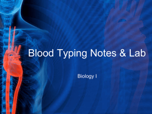 Blood Typing Notes & Lab