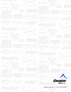 Energizer Holdings Inc. 2014 Annual Report