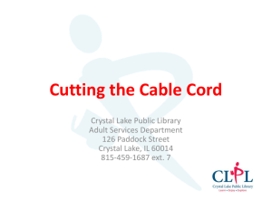 CLPL_Cutting the Cable Cord - Crystal Lake Public Library
