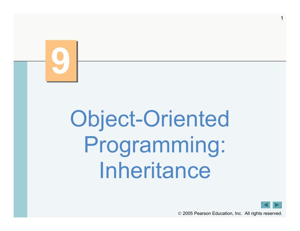 Object-Oriented Programming: Inheritance