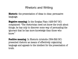 Rhetoric and Writing