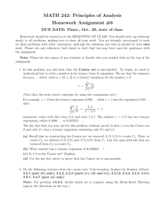MATH 242: Principles of Analysis Homework Assignment #6