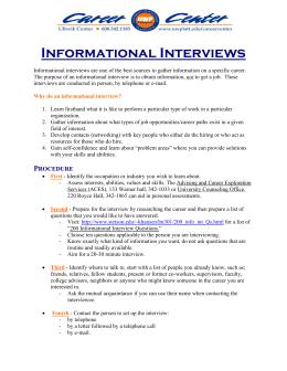 informational interview paper
