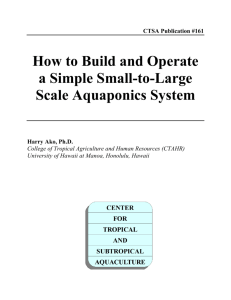 How to Build and Operate a Simple Small-to-Large Scale