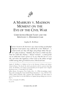A Marbury v. Madison Moment on the Eve of the Civil