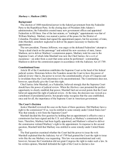 Marbury Madison 223 Judicial Review