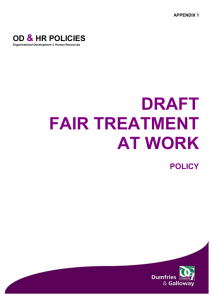 Report - Final - Fair Treatment at Work Policy Appendix 1