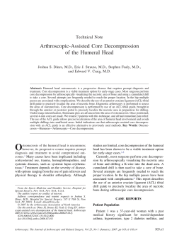 Arthroscopic-Assisted Core Decompression of the Humeral Head