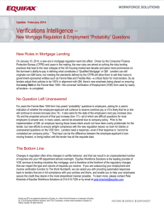 Verifications Intelligence - New Mortgage Regulation