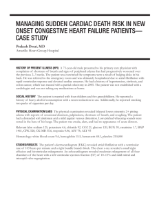 managing sudden cardiac death risk in new onset