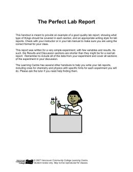 apes lab report